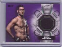 2018 Topps UFC Knockout Relics Purple #KRCW Chris Weidman 08/25 - Flat S/H