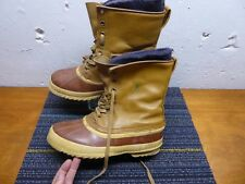 Vintage Men's 9 Sorel Kaufman Brown Boots With Wool Felt Lining Very Good!