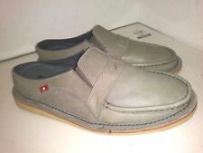 Oliberte Gray Leather Clogs Loafers Low Slide On Mens Size 42