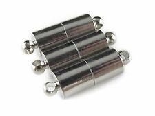 50 Magnetic Clasp Converters - Large Tube Style - Platinum Color - Set Pack