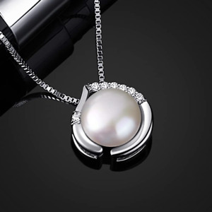 """Sterling Silver Freshwater Pearl Necklace 18"""" Chain - Gift Boxed - 925 Silver"""