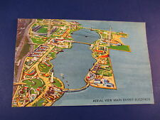 Arial View Of Exhibit Buildings Chicago Illinois Colorful Postcard Unused PC18