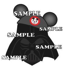 Disney World Hollywood Studios Darth Vader Mickey Ears Paper Scrapbook Piece