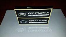 New listing Compustar Auto Security Warning Window Decal Set