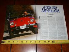 CROSLEY HOTSHOT KURTIS 500S KAISER DARRIN SPORTS CAR - ORIGINAL 1999 ARTICLE