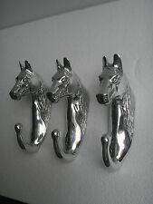 Metal Horse Head Wall Coat Hook Lot of 3 Pieces 8 inches a/u