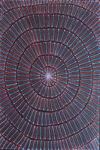 Mary Rumble Pitjara.Highly Collectable Aboriginal Art. Incl COA and photo's