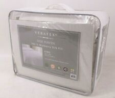 Veratex Silk Haven 100% Mulberry Silk Fill King Size Comforter 100% Cotton Shell