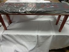 "New TMS Light Cherry Finish Mission Black Bench Seat 46"" L x 18"" H x 12"" W"