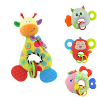 CG_ FT- GT- HK- Fashion Animal Stuffed Doll Soft Plush Rattle Newborn Baby Toy E