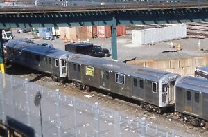 NYCTA slide. R110A prototype subway car 8003. Rebuilt into pump car. 207 St yard