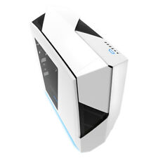 NZXT Noctis 450 White Blue Gaming Case Quiet Mid Tower 4x Fans Window ATX USB 3