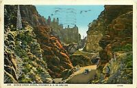 Linen Postcard AZ K191 Queen Creek Gorge Highway 60 180 Cancel 1939 Model T Car