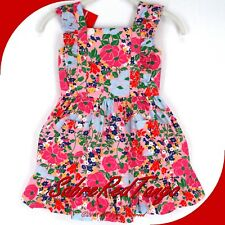 NWT HANNA ANDERSSON PINAFORE POCKET DRESS SUNDRESS MULTI FLORAL 130 8
