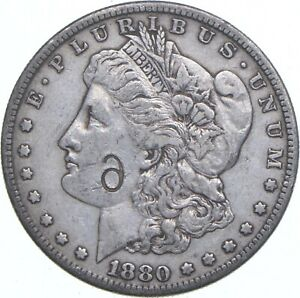 Early - 1880-S Morgan Silver Dollar - Counterstamped - 90% US Coin *883