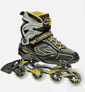 Roller Derby Aerio Q-80 Adults/Childrens Inline Skates - Black / Yellow UK sz 5