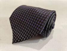 DKNY Men's Black Geometric Silk Neck Tie $78