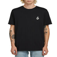 Volcom Men's Deadly Stone Short Sleeve T Shirt Black modern casual  skater