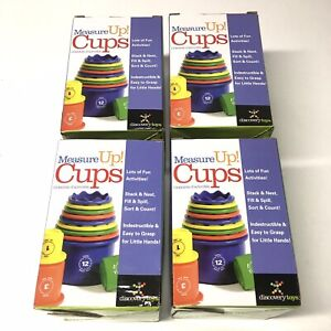 Discovery toys Measure up Cups #1971 Lot Of 4 Boxes NIB learning Pathways