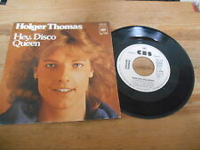 "7"" Pop Holger Thomas - Hey, Disco Queen / Wenn dein (2 Song) CBS Promo Blitzinfo"