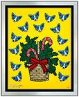 George Rodrigue High On Sugar Original Blue Dog Color Silkscreen Hand Signed Art