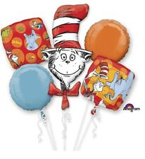 Dr Seuss The Cat In The Hat Anagram Balloon Bouquet Birthday Party Decorations