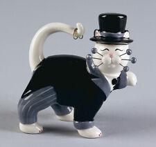 "WhimsiClay ""Goodman "", groom cat figurine, + free pin &  benefits the ASPCA"