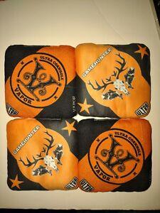 Ultra cornhole custom vapor orange & black corn hole slide/stick 4 bag set