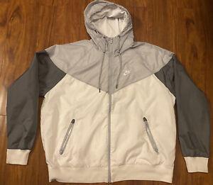 "Nike Sportswear Windrunner Hooded Jacket ""White/Grey"""