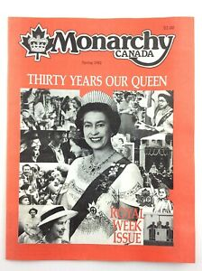 Monarchy Canada Spring 1982 Thirty Years of Our Queen Elizabeth II N019