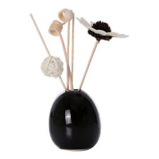 Modern Artificial Flower Ceramic Vase Essential Oil Perfume Bottle Black