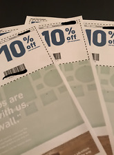 THREE 3X Lowes 10% OFF Lowe's Coupons - IN STORE/ONLINE  - USPS FIRST CLASS