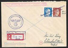 German Reich covers 1945 R-cover Deutsche Dienstpost Niederlande/ZUTPHEN