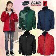 Uneek Kids Reversible Fleece Jacket UC606 4Colour 2-11/13YR Work Wear Causal Top