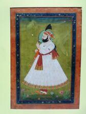 INDIAN MINIATURE PAINTING FINE ART ROYAL MAHARAJA OF JODHPUR PORTRAIT