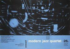 MODERN JAZZ QUARTET 1957 German A1 concert poster GUNTHER KIESER HANS MICHEL NM