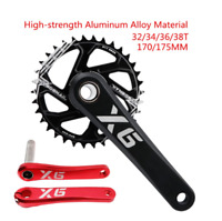 IXF MTB Bike Crankset 170/175mm Al Alloy Crank arm Chainwheel GXP 32/34/36/38T