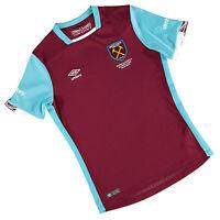 Umbro 2016/17 West Ham United Junior Kids Home Kit Football shirt top Hammers
