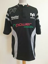 Dd782 Mens Kooga Ospreys Npower Black Grey S/Sleeve Rugby Shirt Uk M Eu 50
