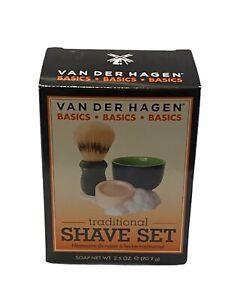 Van Der Hagen Traditional Shave, Mug, Brush & Soap Shave Set