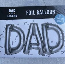 Happy Birthday DAD Foil Silver Balloon Bunting No Helium Required Air Fill