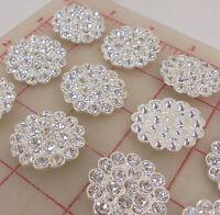 #4804 Vintage Swarovski Swirl shape rhinestones Crystal 15x10mm CRAFT Post Free