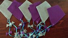 Flannel Game/Bulletin Board Kites--Blue/Purple