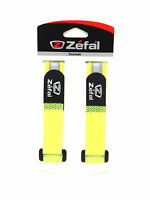 PAIR OF ZEFAL YELLOW BIKE BICYCLE LEG PANTS BAND STRAPS PAIR HOOK & LOOP CLOSURE