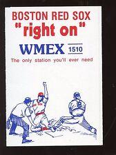 1976 Boston Red Sox Baseball Schedule NRMT