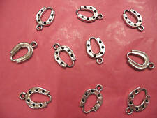 Tibetan Silver Horse Shoe Charms pack of 10
