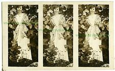 RPPC -- UNUSUAL Fascinating Experimental Photo Postcard, 3 images on one card