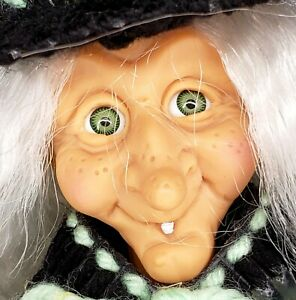 "FABULOUS ""Hagatha"" Witch / Hag Vintage Canvas Craft Doll Center Piece Halloween"