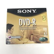 SONY DVD-R Color Collection 5 Pack 1x - 16x speed AccuCORE  NEW