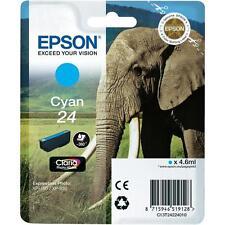 Genuine Epson 24 éléphant Claria Photo HD Cyan jet d'encre Cartouche d'impression T2422 C13